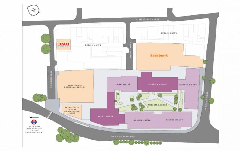 Site plan – New Market Place