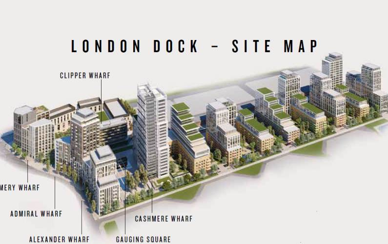 Site plan – London Dock