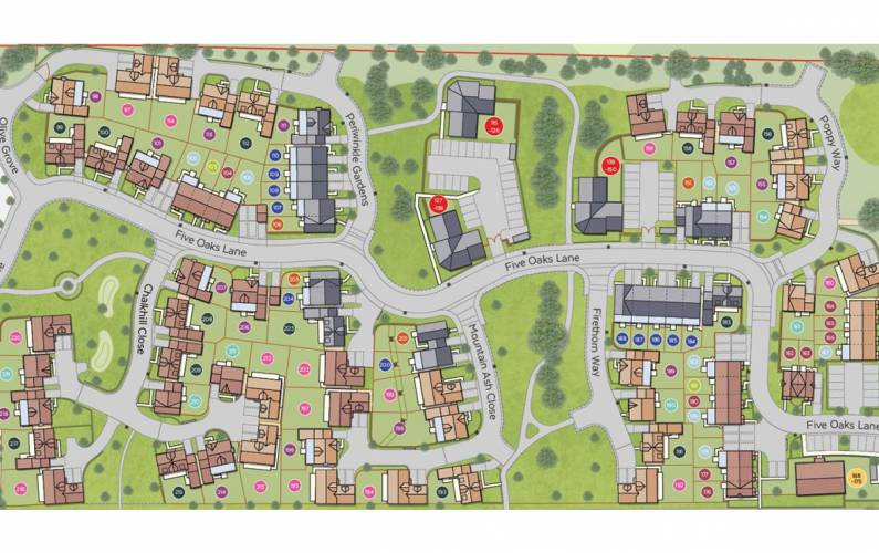 Site plan – Oaklands Hamlet