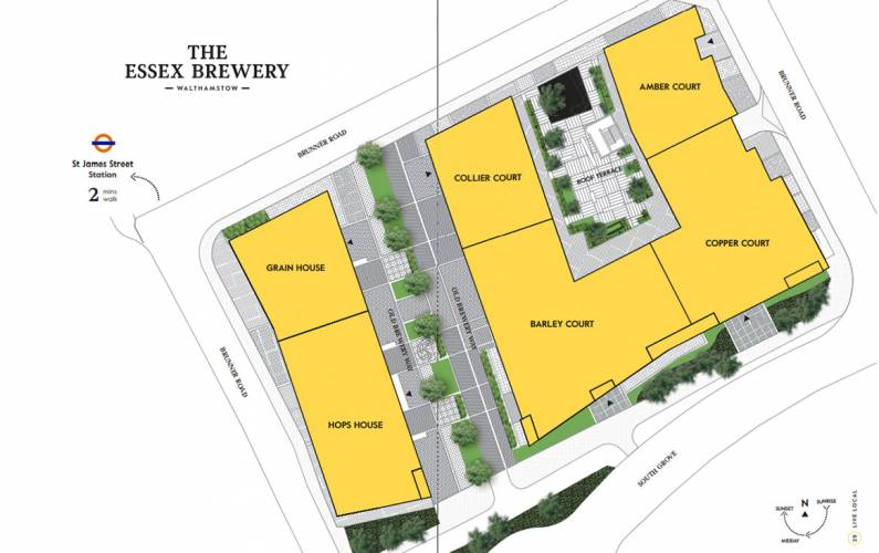 Site plan – The Essex Brewery