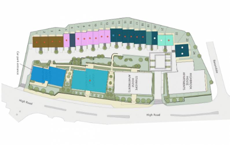Site plan – Totteridge Place