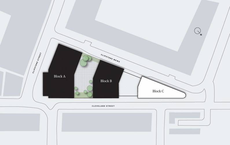 Site plan – 101 on Cleveland