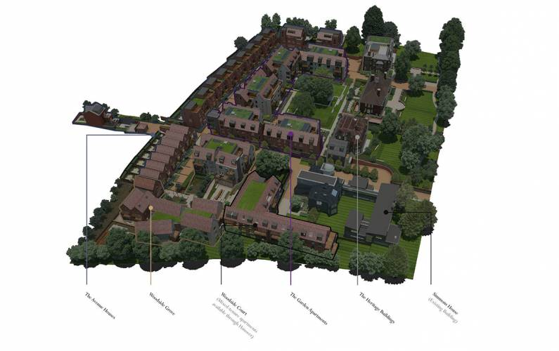 Site plan – Woodside Square