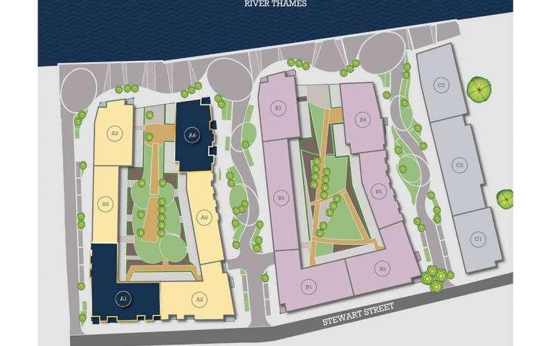 Site plan – New Union Wharf