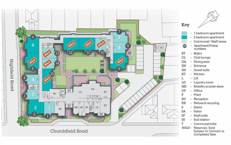 Site plan – Edward Place