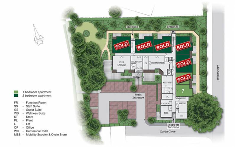Site plan – Goldwyn House