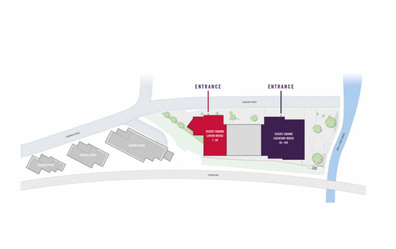 Site plan – Osiers Square