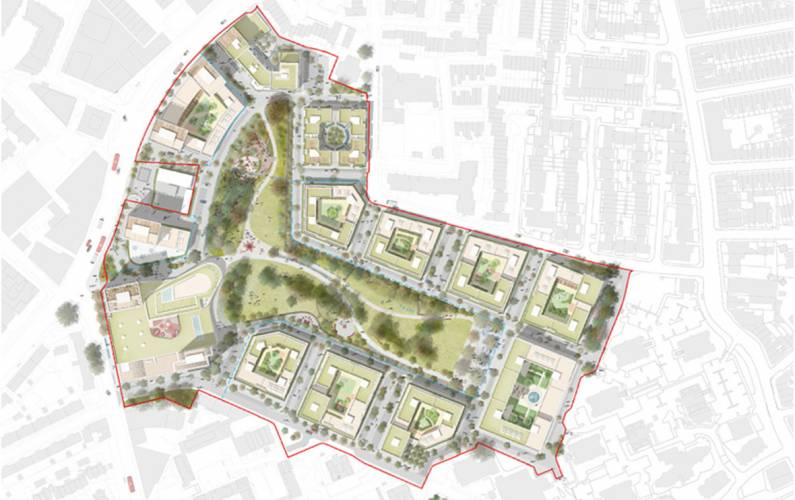 Site plan – Winstanley and York Road